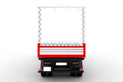 Back of large truck. Back of a large trailer or heavy duty delivery truck Royalty Free Stock Image