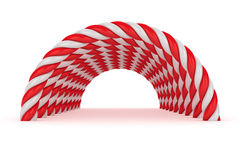 Red-white tunnel Stock Photo
