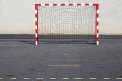 Red And White Urban Goalposts Stock Images