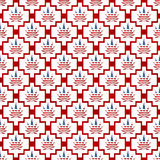 Red and White USA Marijuana Tile Pattern Repeat Background Stock Photo