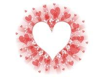 Red White Valentine's Day Heart Design Stock Image