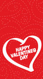 Red and white Valentines Day background Royalty Free Stock Images