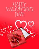 Red and white Valentines Day background Stock Photo