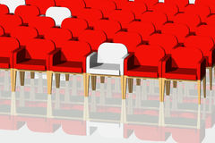 Red and white velvet chairs Stock Image