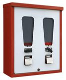 Red and white vending machine Stock Images