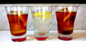 Red and white vermouth. Royalty Free Stock Photo