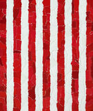 Red and white vertical strips Stock Photos