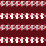 Red and white vertical triangle striped knitting pattern backgro. Und vector illustration image Royalty Free Stock Images
