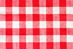 Red and white vichy pattern Stock Photos