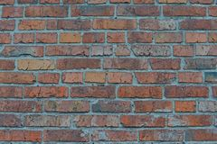 Free Red White Wall Background. Old Grungy Brick Wall Horizontal Texture. Brickwall Backdrop. Stonewall Wallpaper. Vintage Wall With Pe Royalty Free Stock Photos - 104763508