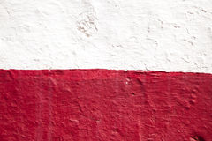 Red and white wall Royalty Free Stock Image