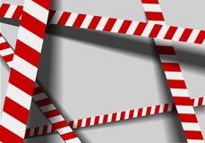 Red white warning lines vector illustration