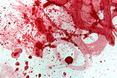 Red and White Watercolor 2 Royalty Free Stock Photo