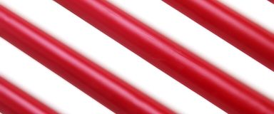 Red White Wax Candle Stick Diagonal Striped Background Texture Royalty Free Stock Photos