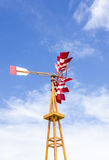 Red and white windmill Stock Photos