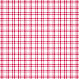 Red white windowpane twill plaid. Vector background Stock Photography