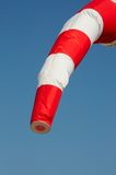 Red and white windsock. Royalty Free Stock Photography
