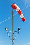 Red and white windsock Stock Image