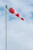 Red and white windsock Royalty Free Stock Photos