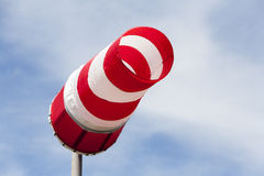 Red and white windsock Royalty Free Stock Image