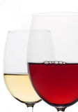 Red and white wine Stock Image