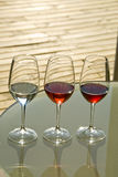 Red and white wine royalty free stock photography