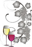 Red and white wine royalty free illustration