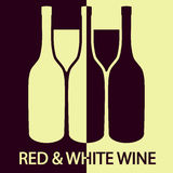 Red and white wine. Illustration of red and white wine as the background Stock Image
