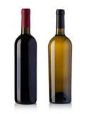 red and white wine bottle stock photos