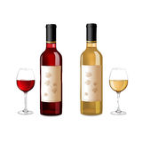 Red and white wine bottles Royalty Free Stock Image