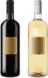 Red and white wine bottles Royalty Free Stock Photo