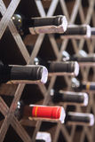 Red and white wine in bottles Royalty Free Stock Photography