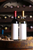Red and white wine in cellar Royalty Free Stock Images