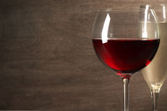 Red and white wine close-up Stock Image
