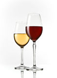Red and white wine glasses Stock Photography