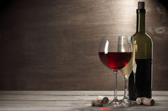 Red and white wine Royalty Free Stock Images