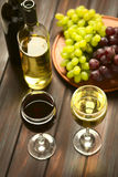 Red and White Wine in Glasses Royalty Free Stock Photo