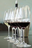 Red and white wine Glasses Stock Photo
