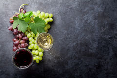 Red and white wine and grape royalty free stock images