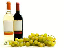 Red and white wine with vine Stock Image