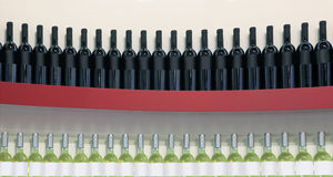 Red and White Wines Royalty Free Stock Images