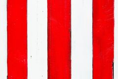 The red and white wood Royalty Free Stock Images