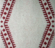 Red and White Woven Wool Blanket Royalty Free Stock Images