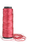 Red, white yarn Royalty Free Stock Photography