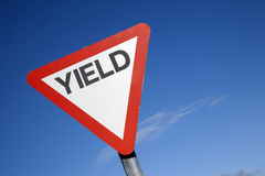 Red and White Yield Sign Royalty Free Stock Photos