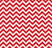 Red and white Zig zag seamless vector pattern royalty free illustration