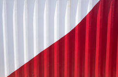 Red&WhiteShippingContainer Images libres de droits