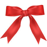 Red wide ribbon Stock Photo