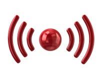 Red wifi icon Royalty Free Stock Photos