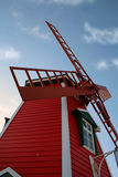Red Windmill. A shot of a red windmill in south africa Stock Image